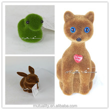 various garden ornaments green moss animal