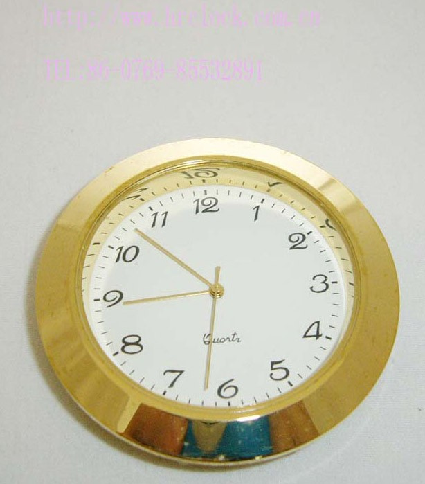 50mm mini clock insert gold frame gold bezel clock inserts fits up movement