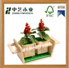 new design eco friendly handmade wholesale small decor garden small cheap alibaba different types wooden garden flower pot