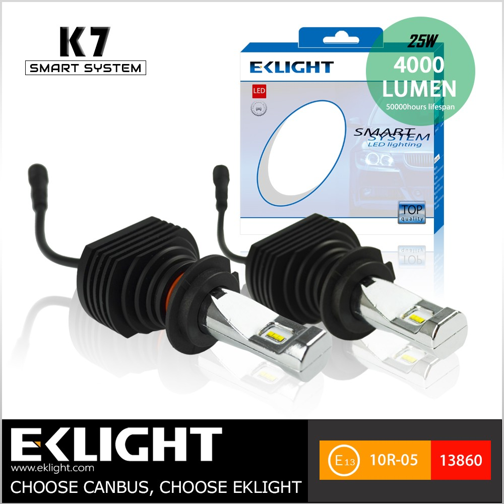E13 Emark approved H7 H4 H11 9006 vehicle Xenon HID lights designed by EKLIGHT