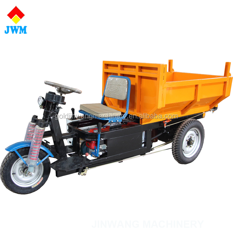 Popular sale hydraulic electric three wheel tricycle for mining