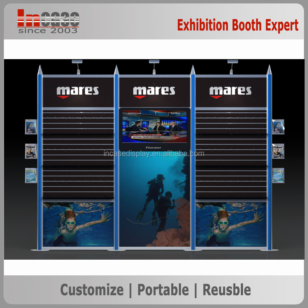 3x3 Newest exhibition booth construction design