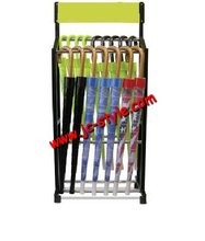 Free standing hanging long umbrella display rack/shop retail metal display racks and stands/leather belt display holder