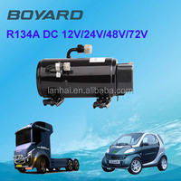 R134A solar powered compressor dc electric 12v/24v for roofmounted car aircon