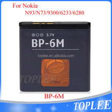 Hot selling mobile phones Battery 1070mAh 3.7V BP-6M Battery For Nokia 3250 6280 6288 N73 N77 N93 6233 6151 9300 9300i