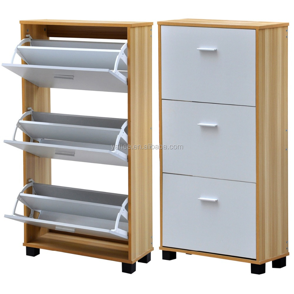 3 Drawer MDF Cabinet Shoe Organiser Shoe Cupboard