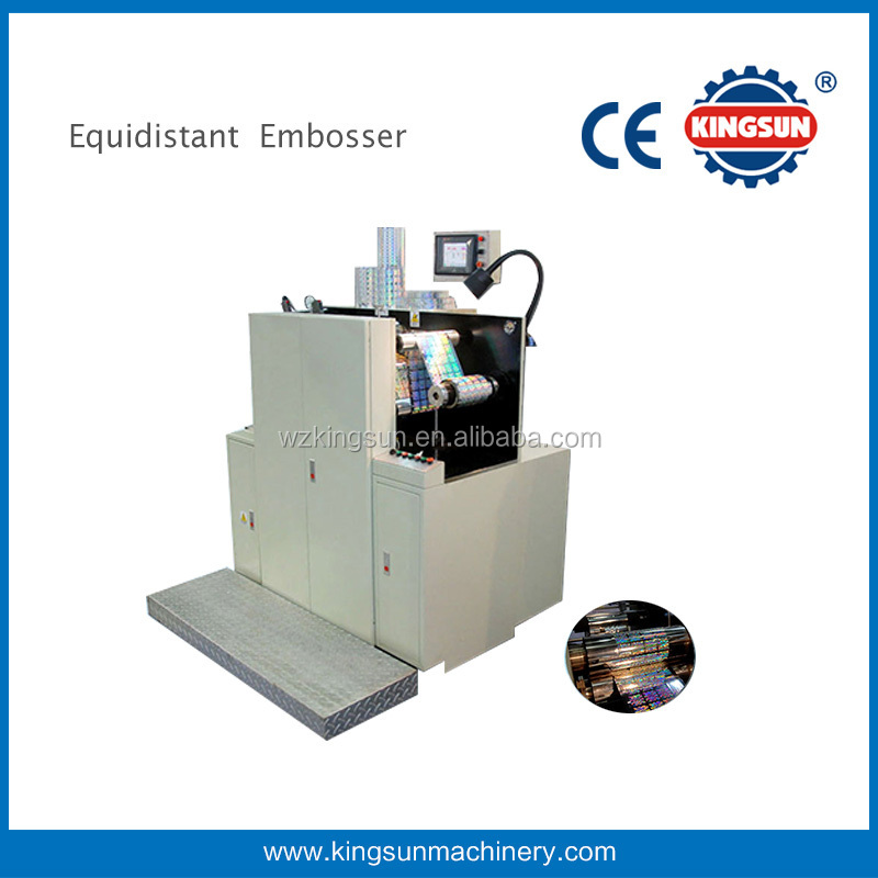 Equidistant Embossing Holographic Labels Sticker Machines