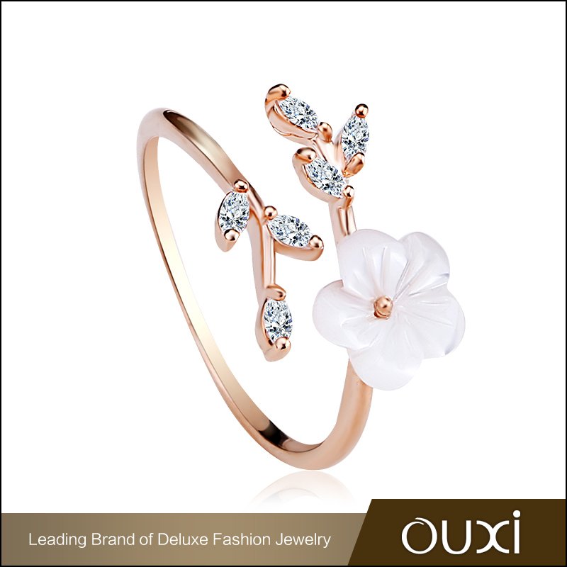2016 OUXI Jewellery Wholesale New Design Ladies Flower Finger Ring