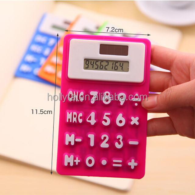 Candy Silicone Calculators,Mini Hand Calculator,Rubber Calculator
