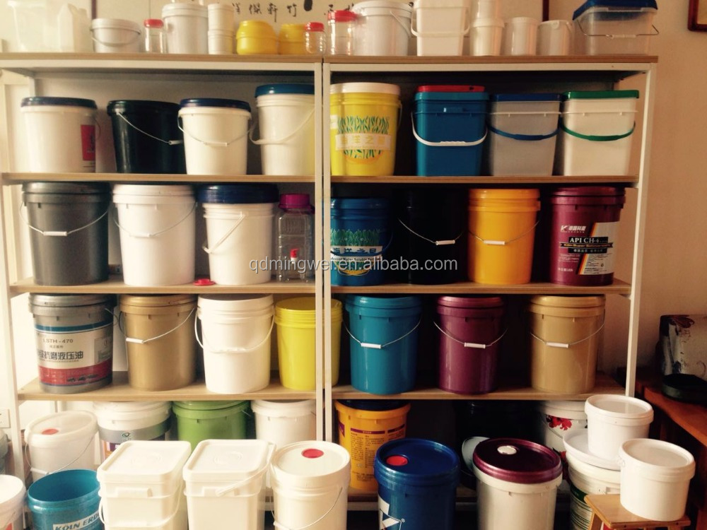 OEM customized virgin material PP rectangular plastic bucket and round plastic bucket