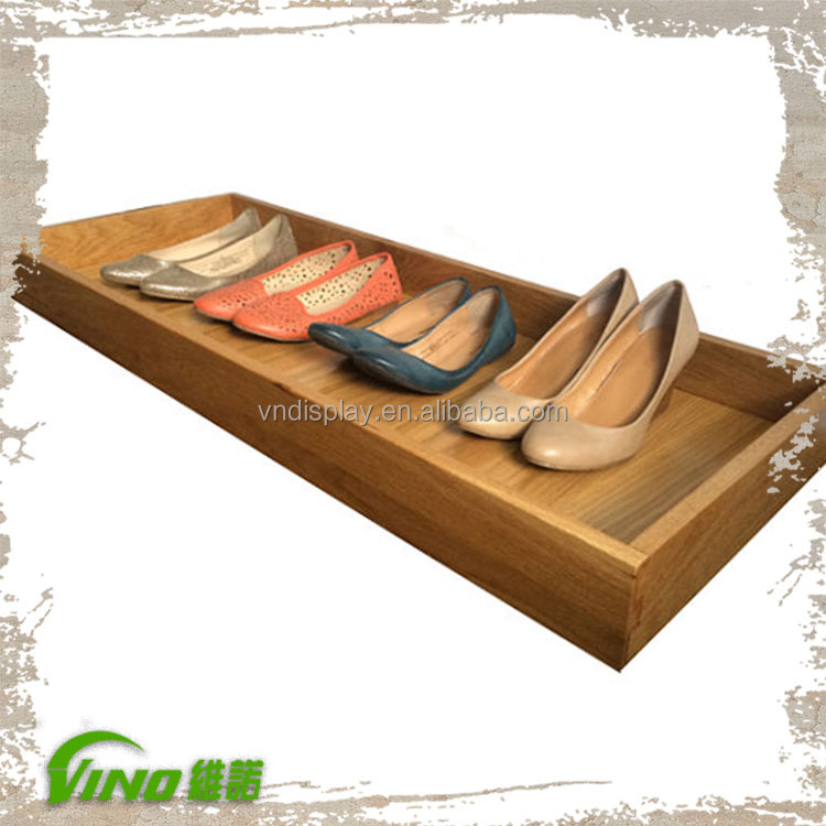 Large Oak Wood Shoe Rack - Shoe and Boot Tray - Shoe Organizer