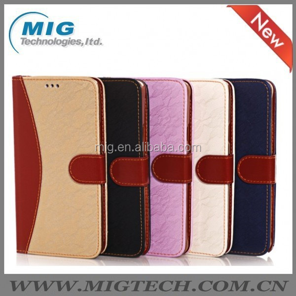 With strap PU leather wallet case for Samsung galaxy note 4, Phone accessories For samsung note 4 smart phone