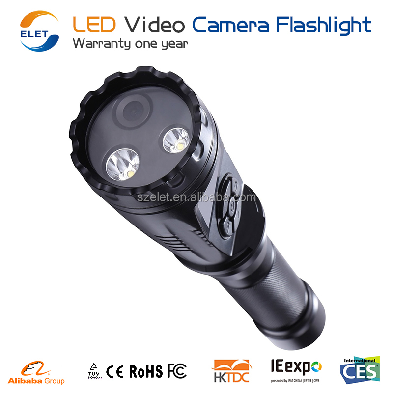 1.5inch LCD Screen multifunctional 1080P Police Law Enforcement 1000 lumens <strong>L2</strong> LED Flashlight DVR