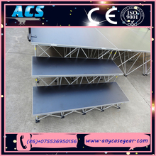 ecofriendly magical adjustable height riser stage with wheels