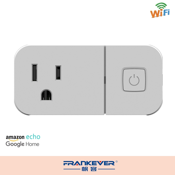 Frankever US standard CE FCC APP controlled mini size smart plug wifi