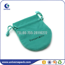 Logo Printed jewellery velvet pouch drawstring for gift