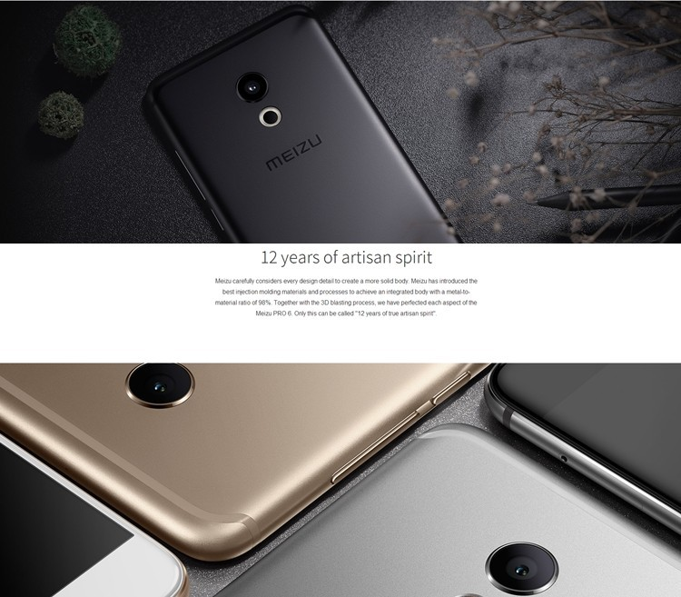 Best Quality 5.2 inch MTK Helio X25 21MP Camera RAM 4GB ROM 64GB Meizu Pro 6 Mobile Phone