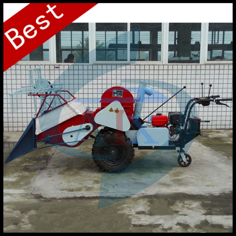Hands push type mini Wheat / Rice Combine Harvester for sale