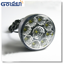 LED car head front round fog tail light off road parking lamp daytime running lights