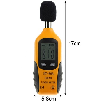 30-135dB Noise Measurement Audio Level Meter Detector Digital Diagnostic tool