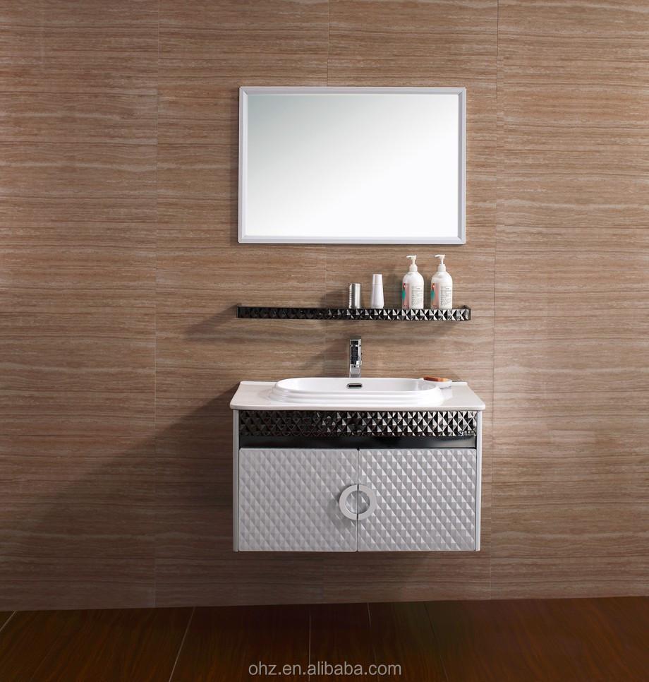 inch stainless steel bathroom cabinetfree standing storage sink vanity with mirror modern bathroom vanity t080 buy modern bathroom vanity