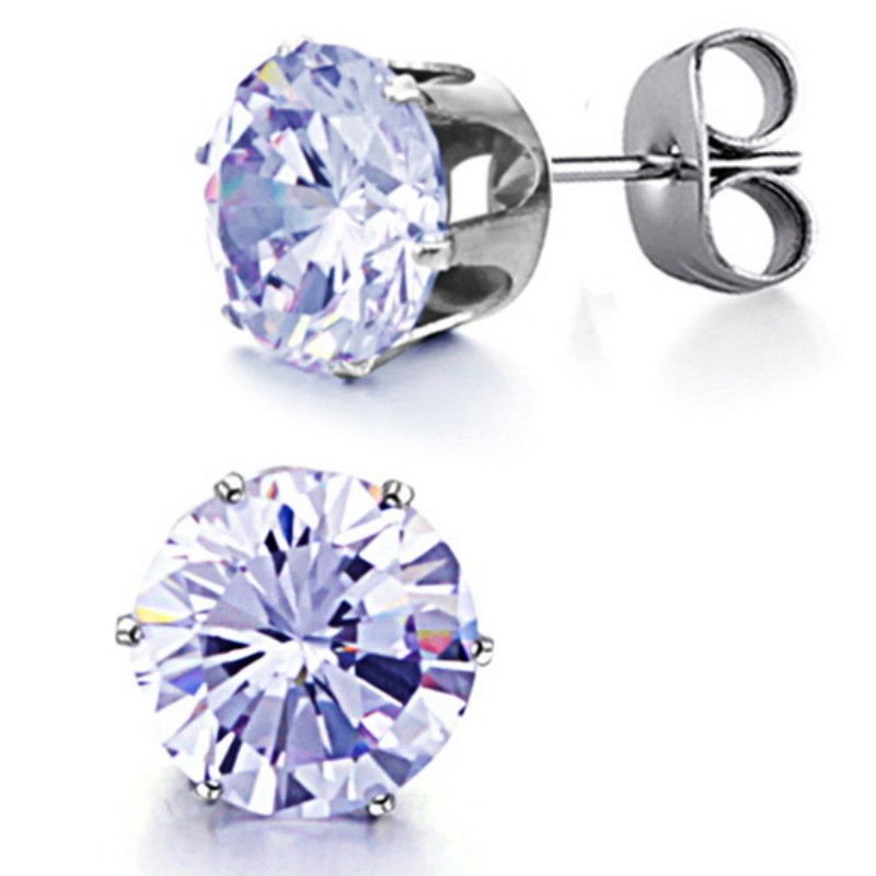 Promotion Women Jewelry Gift Zircon Crystal Stainless Steel CZ Stud Earring