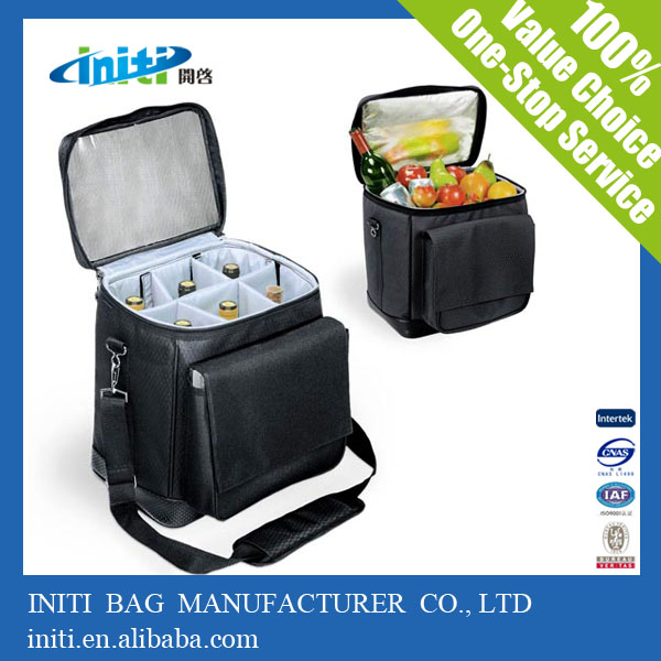 INITI PVC Aluminum Thermal Bag Insulated Wine Bag Cooler Bag