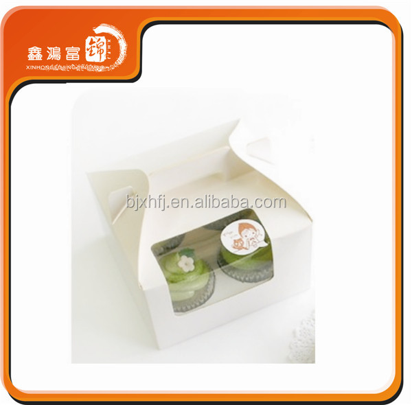 wholesale cheap price high quality decorated recycled craft paper christmas cupcake boxes