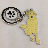 Metal Labrador Retriever keyring,Souvenir Labrador Dog Keychain,Yellow Dog Pendant Key Holder for gift