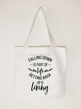 Personalised cotton canvas craft tote bag for wedding