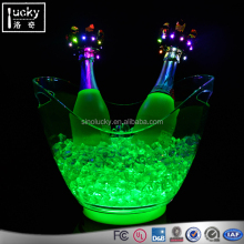 LED Light Acrylic Champagne Wine Beer Ice Bucket 4L Tub for Bar Club Party Restaurant Hotel
