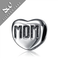 Heavy Sterling Silver Mom Charm Hot bangkok 925 sterling silver jewellery