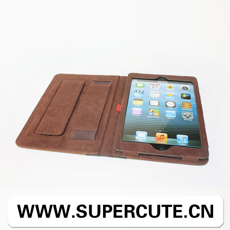 Cute lovely book leather cover for ipad mini cartoon case