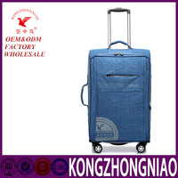 BaiGou Kong zhongniao luggage supplier leather material royal trolley travel luggage with swivel wheels