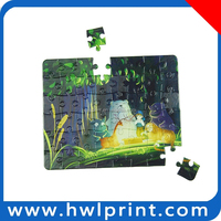 3D paper cube jigsaw puzzle games for QI ready