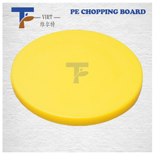Round cute cheap plastic Cutting Board Chopping Board yellow