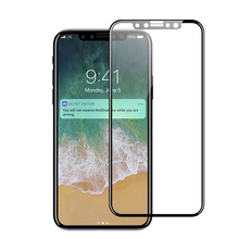 Ultra slim high clear full cover 4d tempered glass phone screen protector for iphone x