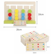 Montessori Education Wooden Four Color Game Matching toys for children education learning Building blocks