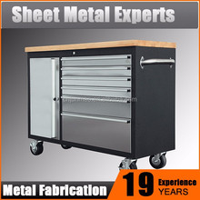 Small size metal stainless steel tool box, rolling tool chest,for truck tool box