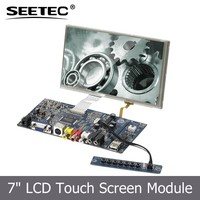 Factory direct HDMI AV VGA 4 wire resistive touch screen tft module open frame CE FCC 7 inch lcd panel