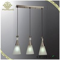 Modern 3 bulbs hand blown glass pendant lamp,pendant light for dinning room
