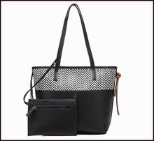 Pu handbag wholesale women tote bag from factory, pu tote bags big size for women