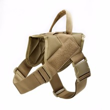 Tactical Nylon Dog Vest Waterproof Patrol Police Service Dog Military Body Harness for Training