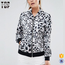 Ladies woodland jacket animal print mature women wear winter jackets for ladies