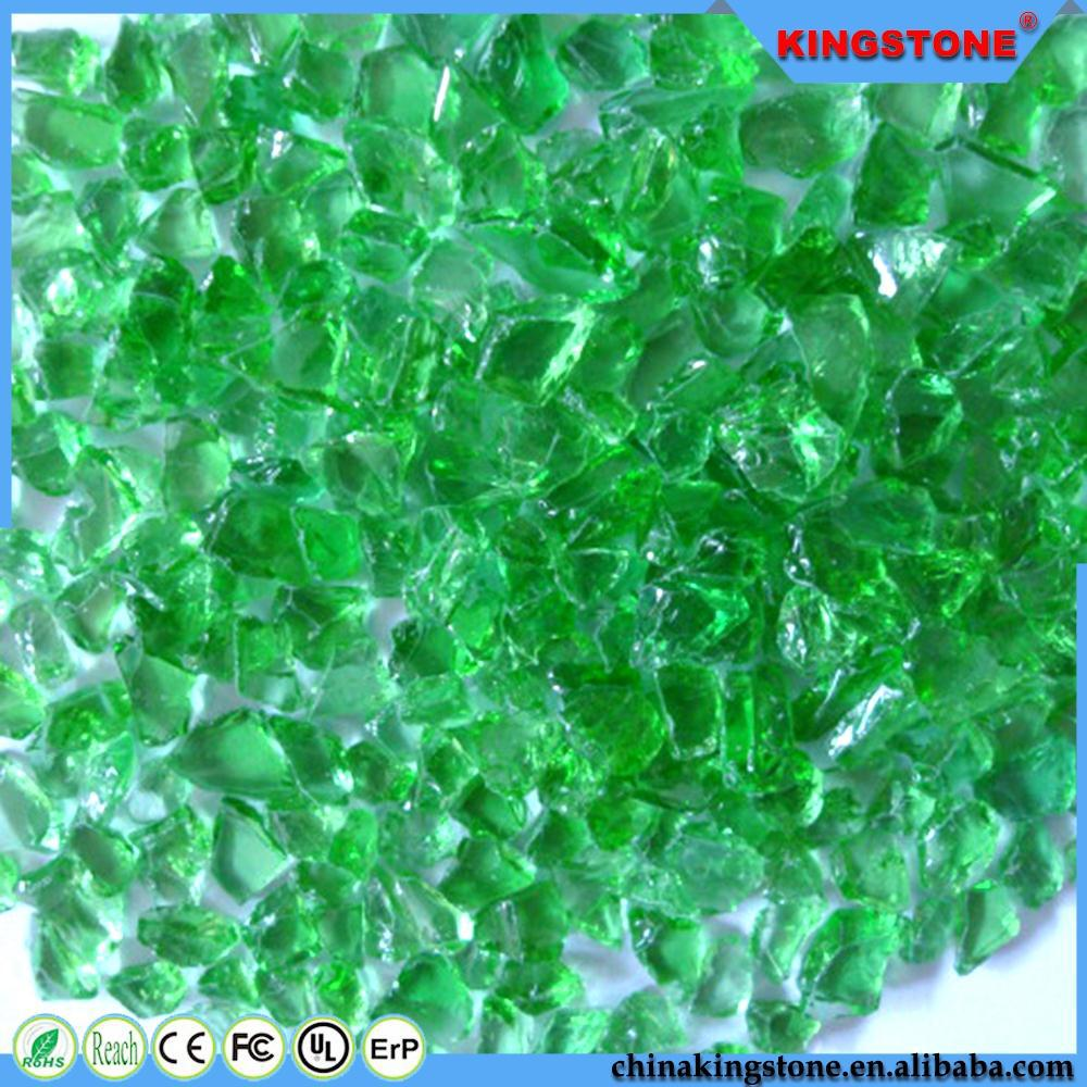 China manufacturer darl tea color glass chips for terrazzo use