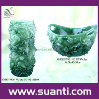 Beautiful resin jade vases for home decor