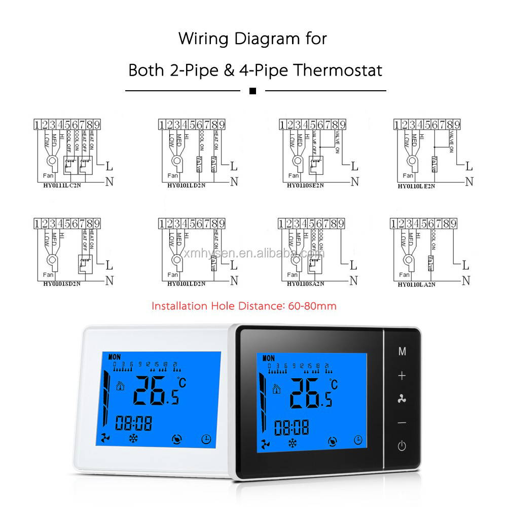 Brand name air conditioner  Fan Coil Unit Thermostat 0-10v Output Programable Temperature Controller