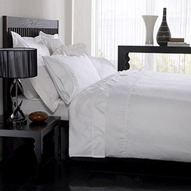 Hotel Look Bed Linen, Plain Dyed And Embellished Bedding Set