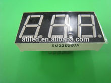 white color 7 segment led display, triple digit 7 segment led display