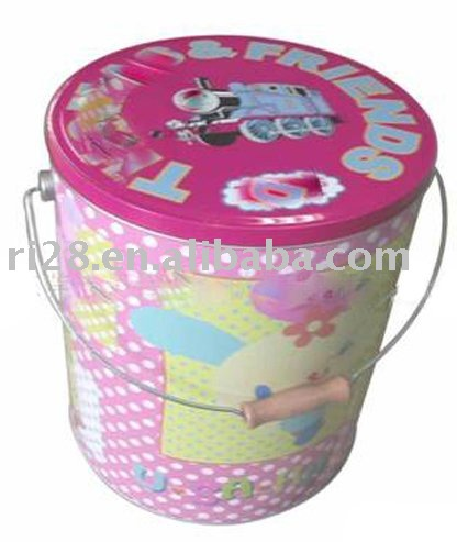 Large bucket tin can